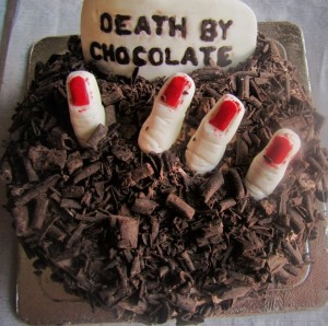 Death By Chocolate Cake for Halloween