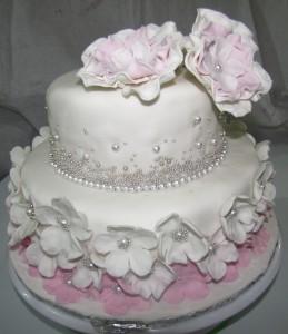 Two tiered Bridal Shower Cake Wedding Cake
