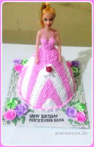 BARBIE DOLL CAKE WITH BUTTERCREAM