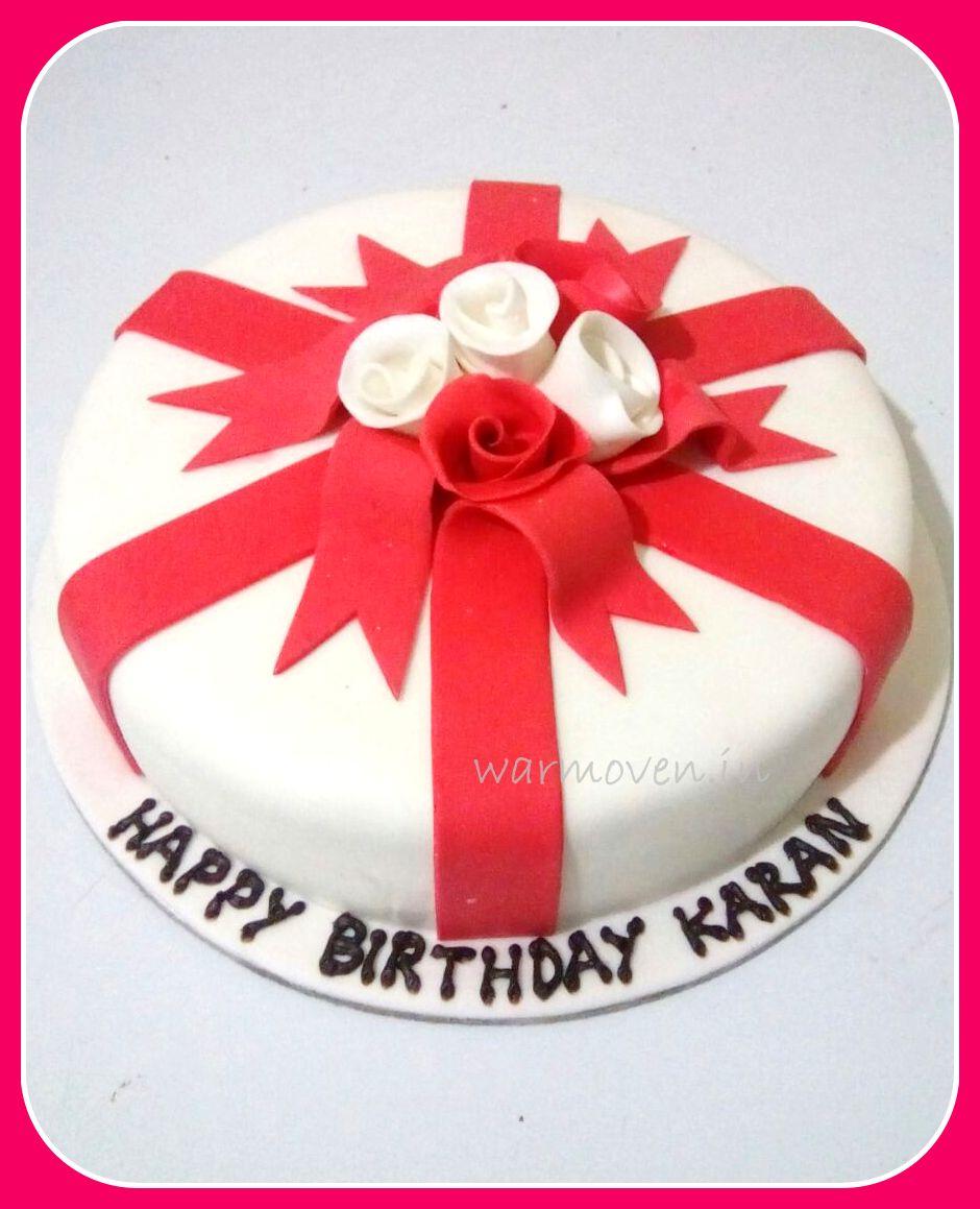 Ribbons Roses Cake