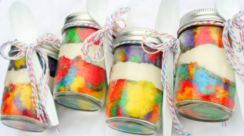Cake in a jar gifting idea