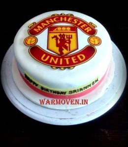 Football theme logo cake