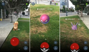 Red & White Poke Balls capture the Pokemons