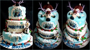 3 Tiered Frozen Theme Cake