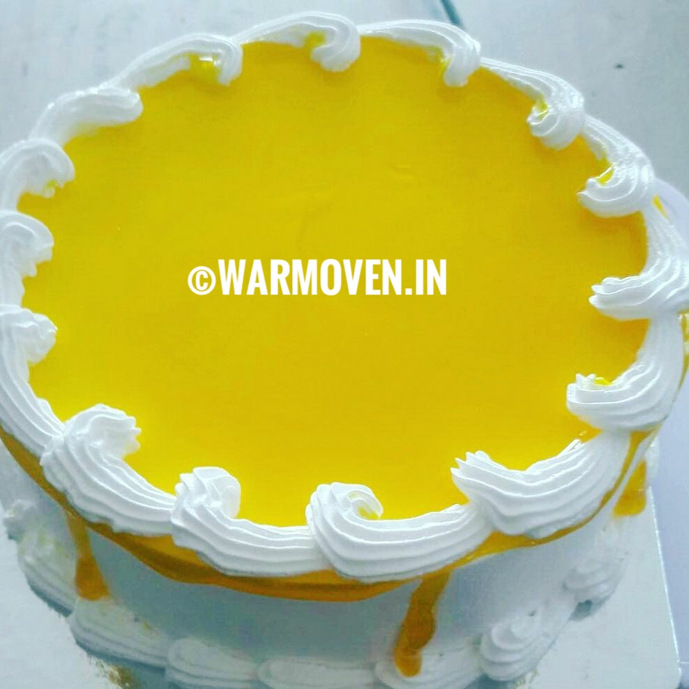 Colorful Cakes - Yellow Cake for Holi