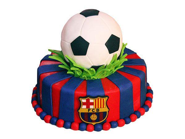 Football Fc Barcelona Cake