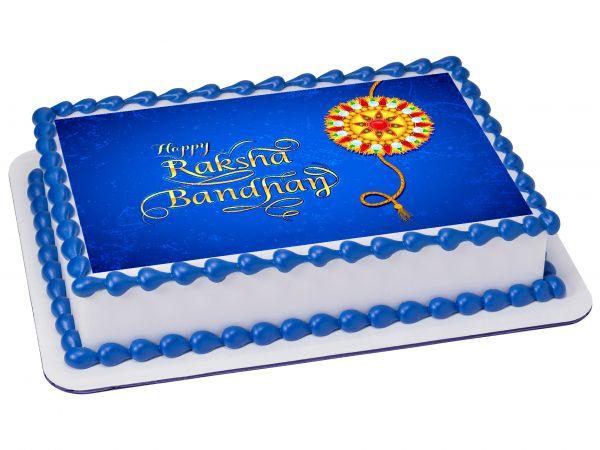 Raksha Bandhan Photocake Blue