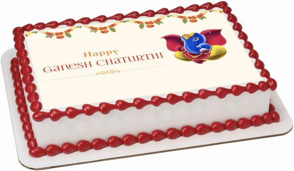 Ganesh Chaturthi Photocake 1