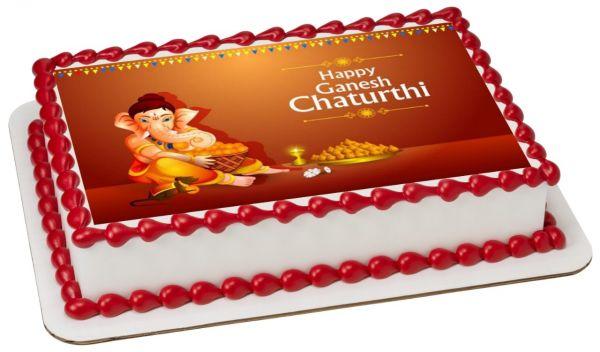 Ganesh Chaturthi Photocake 2
