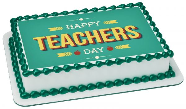 Teachers Day Photo Cake 1