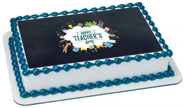 Teachers Day Photo Cake 2