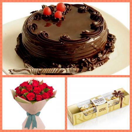 Chocolate rose love combo