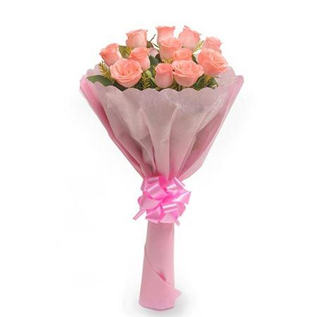 12 Baby Pink Roses Paper Pack