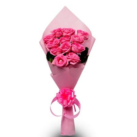 12 Pink Roses Paper Pack