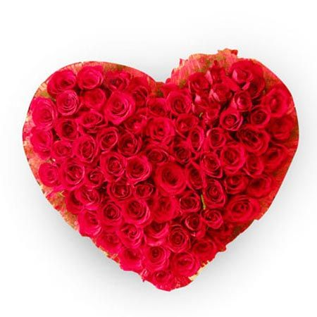 50 Red Heart Roses