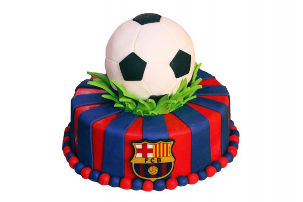 Football FC Barcelona Cake