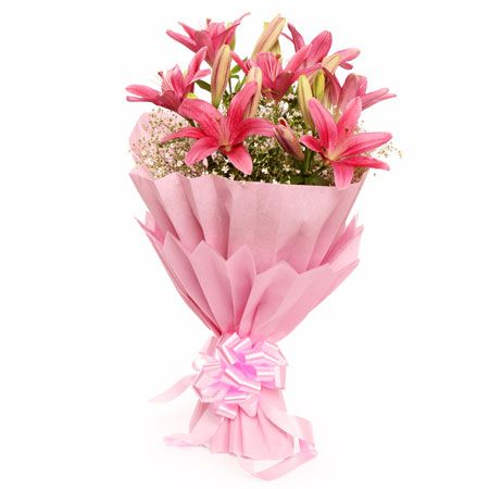 6 Pink Lilies Paper Pack