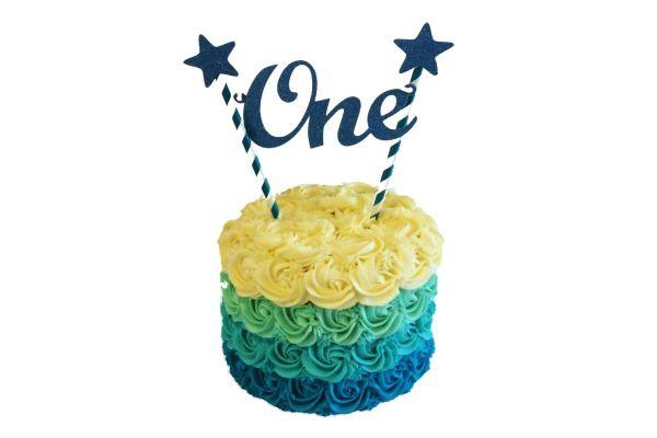 Decorated Birthday Cake - Customizable