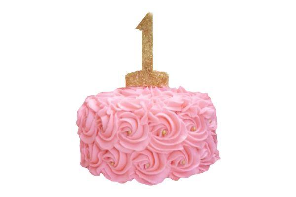Happy Birthday Pink Cake - Customizable