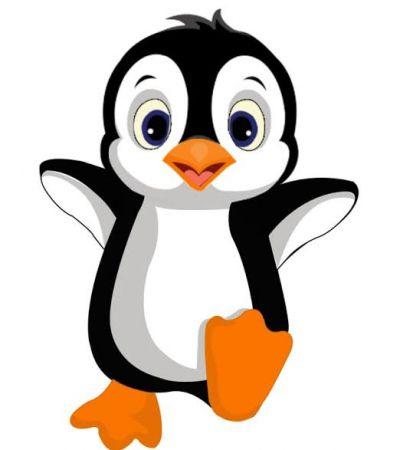 Baby Penguin Photo Cake