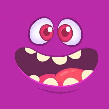 Monster Face Photo Cake #1