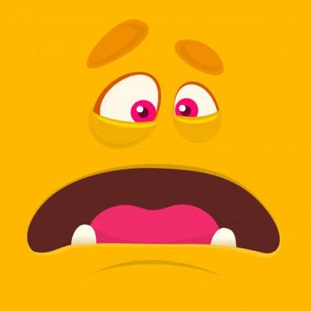 Monster Face Photo Cake #4