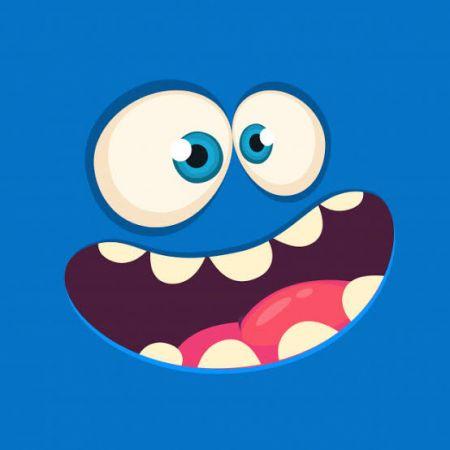 Monster Face Photo Cake #5