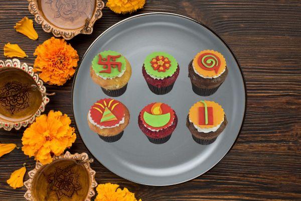 Diwali Cupcake Pack Of Six
