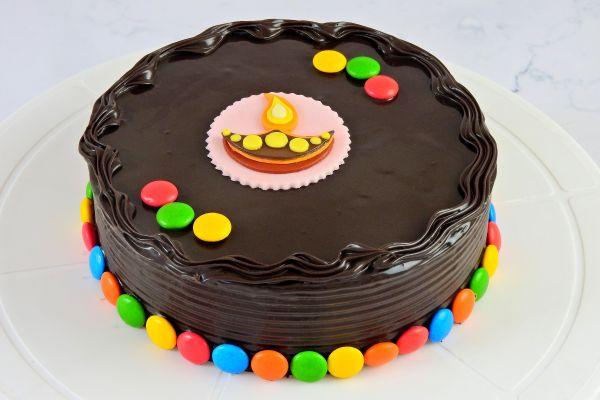 Diwali Chocolate Truffle Cake