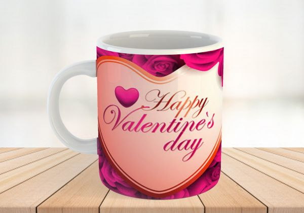 V Day Special Personalised Mug