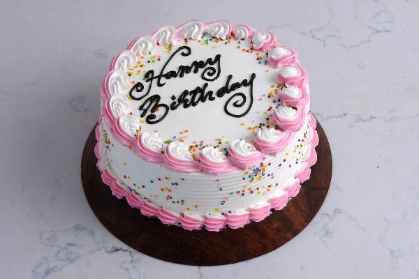 Classic Vanilla (dedicate song through) Cake