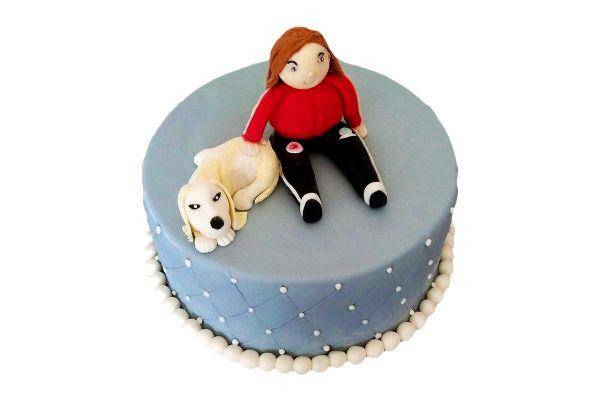 Dog Themed Cake for Pet Lover