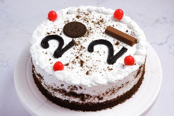 New Year 2021 Cake One Kg - Vanilla