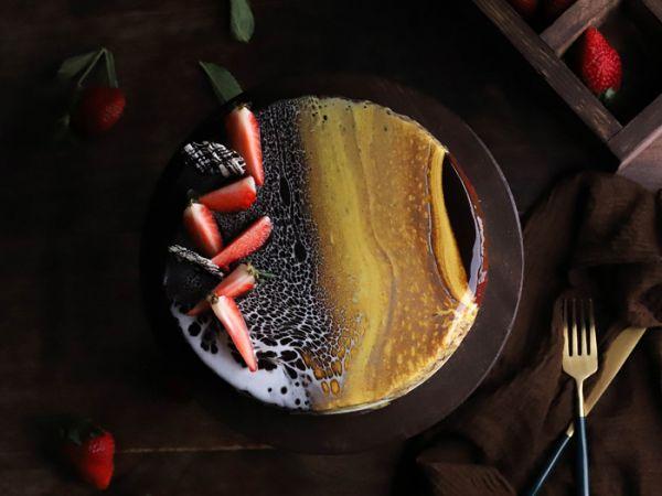 Mirror Glazed Entremets Cake