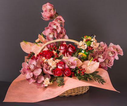 Basket Full Of Love Flowers