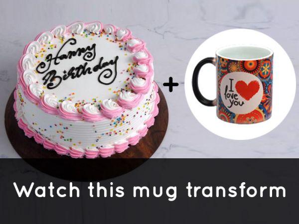 Vanilla Cake & MagicMug Combo