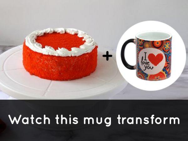 RedVelvet Cake & MagicMug Combo