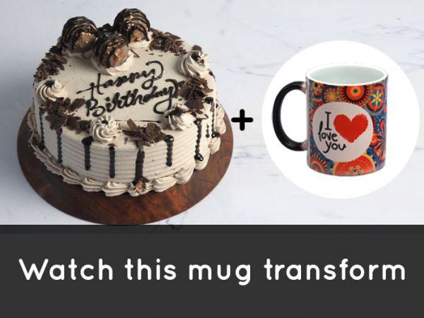 FerreroRocher Cake & MagicMug Combo