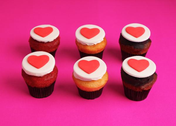 Valentine Cupcake - Pack Of 6