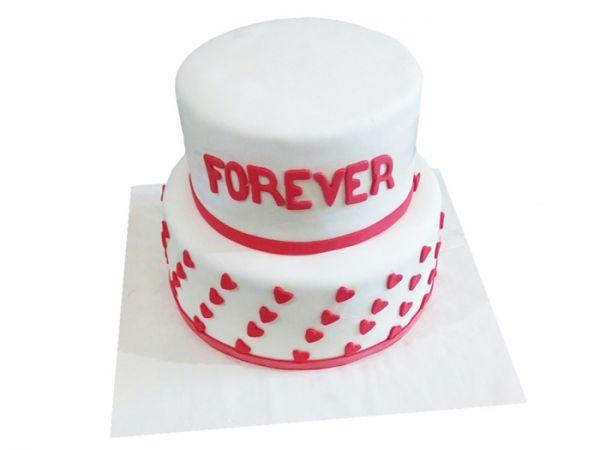 Wedding Cake Red & White