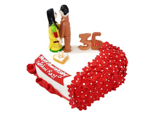 Cute Couple Wedding Cake