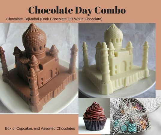 Special Combo 5 - Chocolate Taj Mahal + Chocolate Cupcakes + Handmade Chocolates