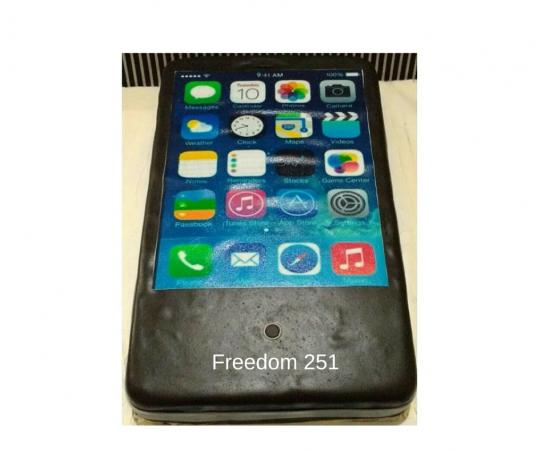 Freedom 251 Smartphone Cake