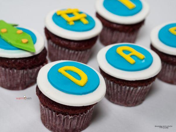 #1 Dad Designer Cupcakes