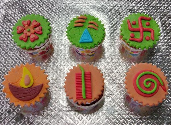 Diwali Gift Cupcakes