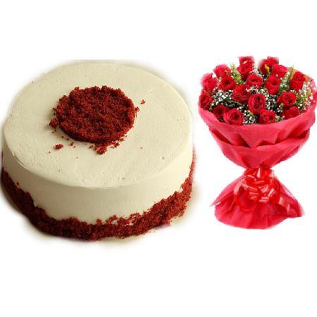 Red Velvet Red Roses Gift