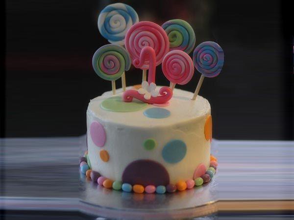 Candy Swirls Cake