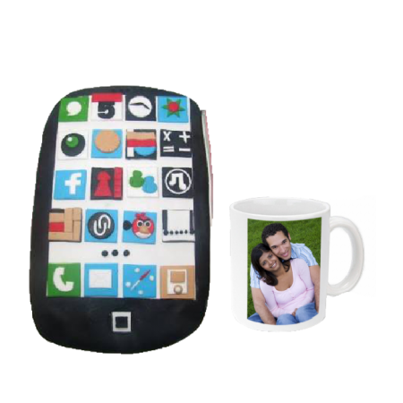 Phone Cake Mug Combo for Him