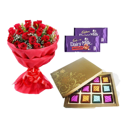 Roses & Chocolate Gift for Her