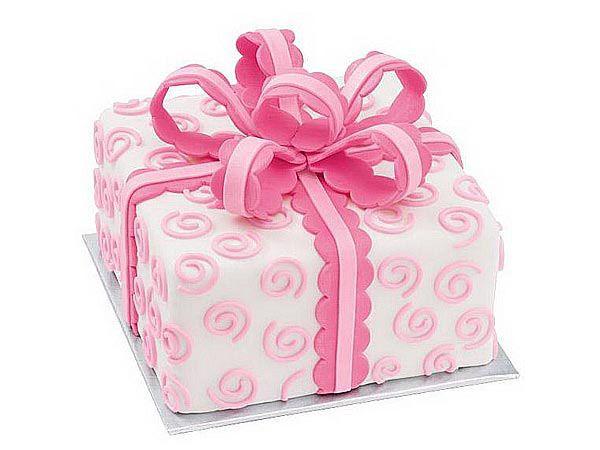 Gift Box Celebration Cake